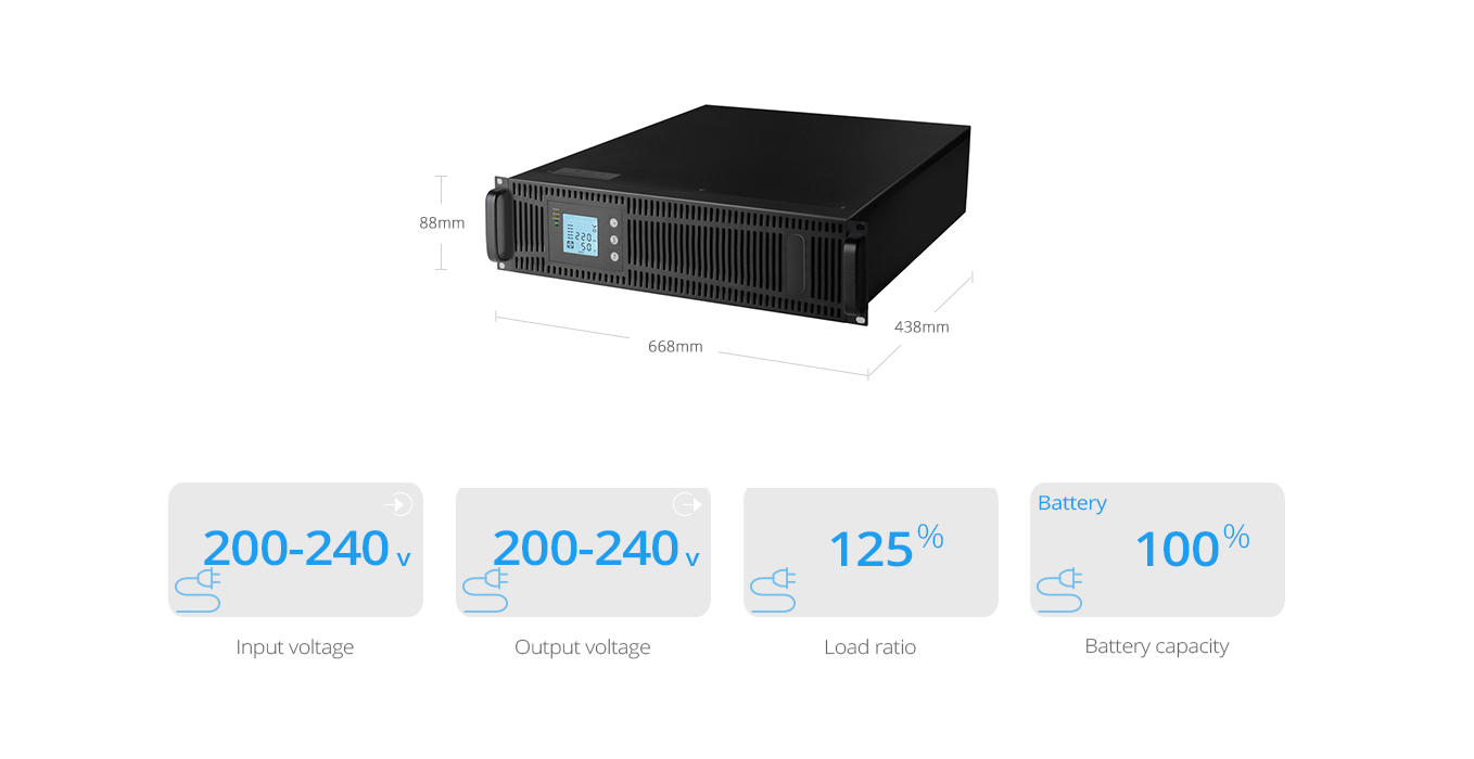 UPS Power Supply   On-Line Double-Conversion Rackmount UPS