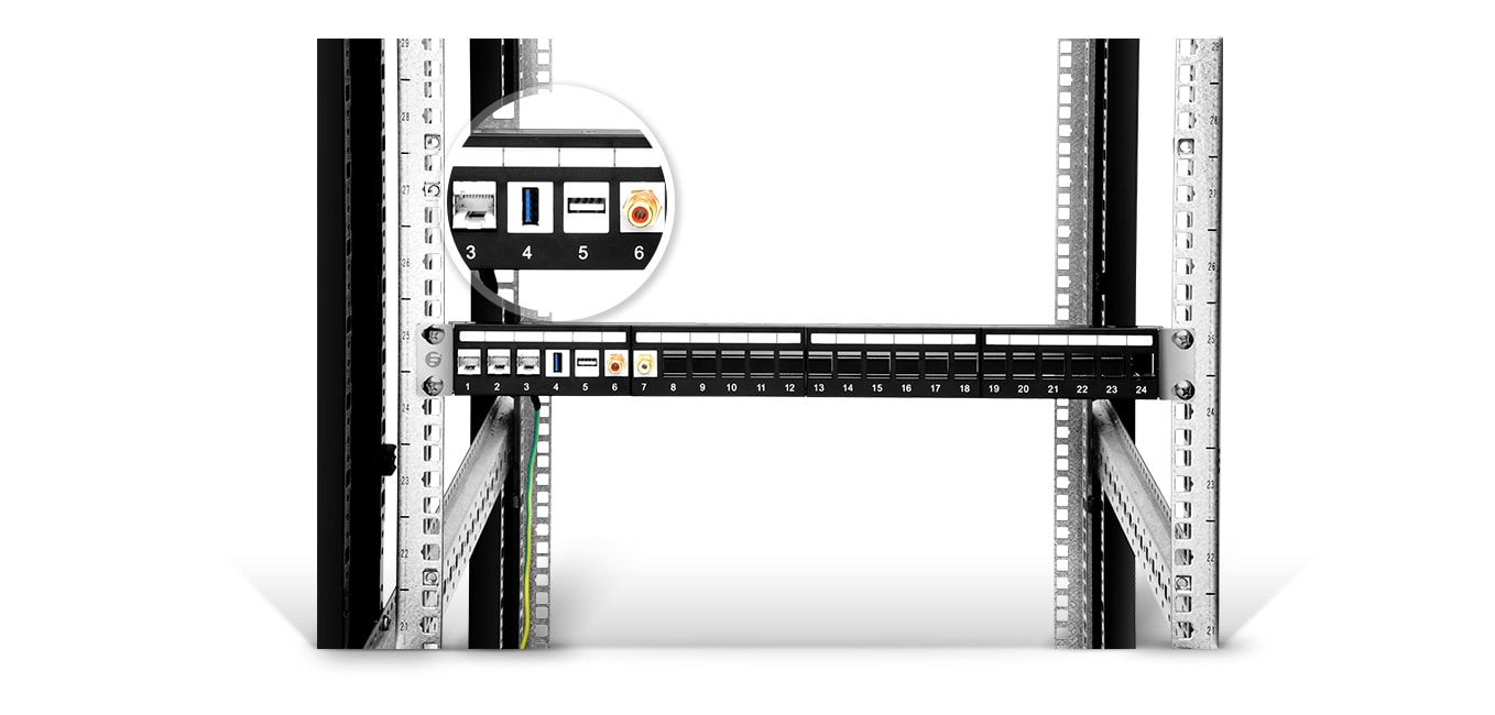 Blank Patch Panels  Ideal for Ethernet, Voice, Audio/Video, or Other Applications