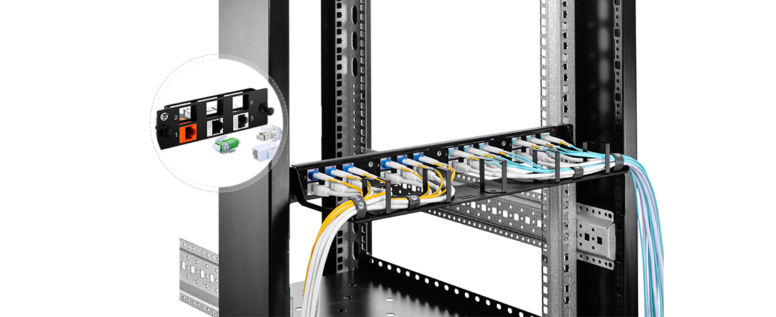 FHD LC SC MTP FAPs  Flexible Solution for Mixing Fiber and Copper Cabling