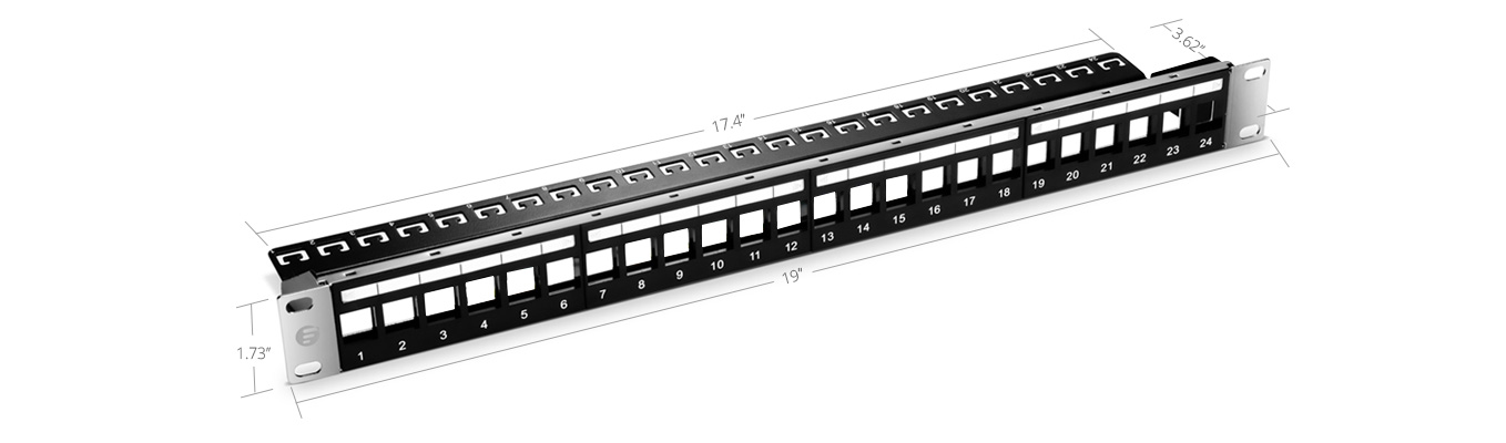High Quality Port Blank Keystone Patch Panel Unshielded U - Patch panel cabinet