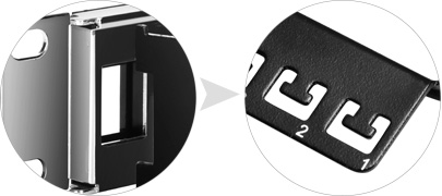 Leere Keystone-Patchpanel  Abnehmbarer Kabelmanager auf der Rückseite