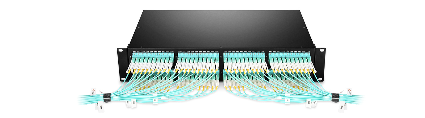 MTP/MPO-LC Patch Panels  Greater Reserved Space, Flexible & Neat Cabling