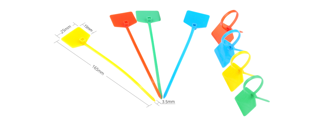 Cable Ties  Cost-efficient and Versatile ID Marker Nylon Cable Ties-Outside Flag