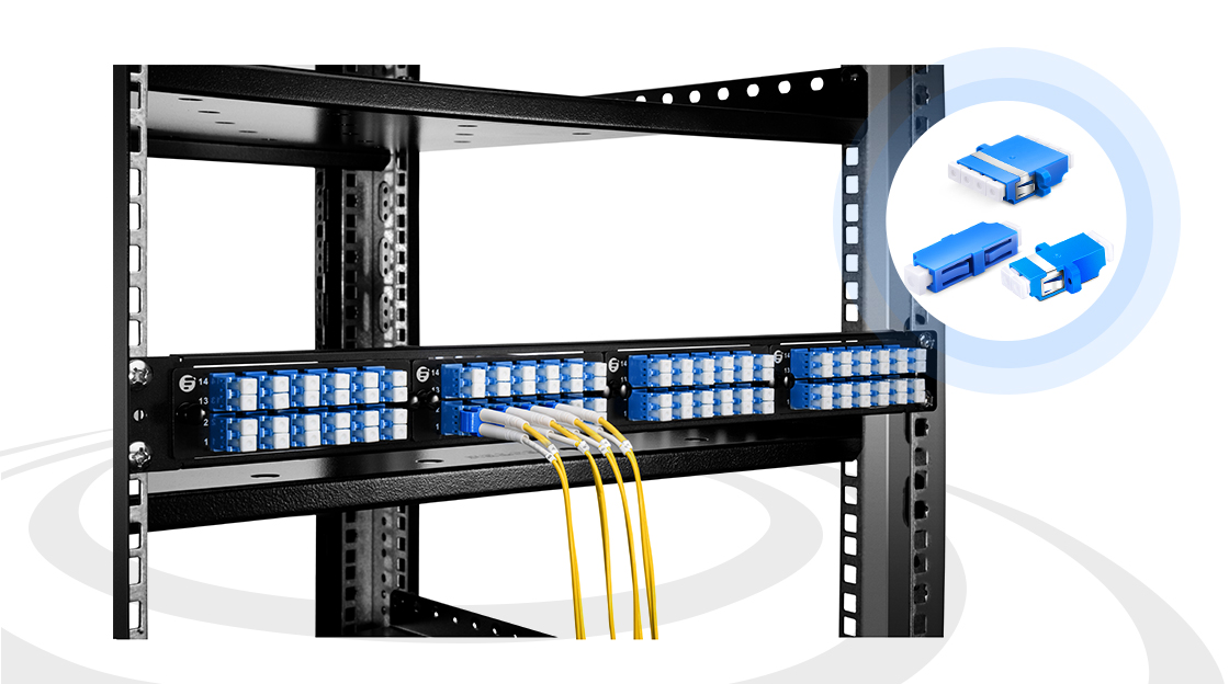 Adaptadores  Los adaptadores superan la brecha entre los conectores de fibra óptica