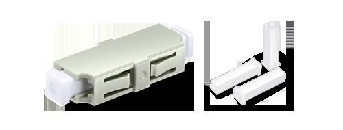 光ファイバアダプター/カプラー ダストキャップによる良好な保護