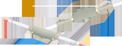 光ファイバアダプター/カプラー  簡単に2本の光ファイバケーブル接続する