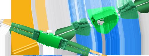 Adaptadores/Acopladores  Simple conexión de dos cables fibra óptica