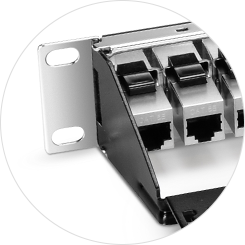 Cat5e Patch Panels Removable Rear Cable Manager