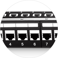 Cat5e Patch Panels Number Coding