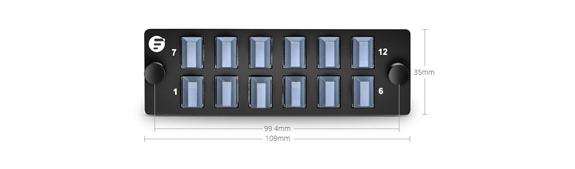 FHD LC SC MTP FAPs  Panel de adaptador de fibra de alta densidad para aplicaciones de paso