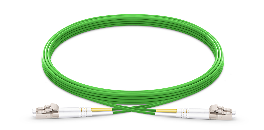 OM5 40G 100G 50/125 Multimode  Industry Standard Flammability Rating OFNR (Riser) Jacket Fiber Optic Cable