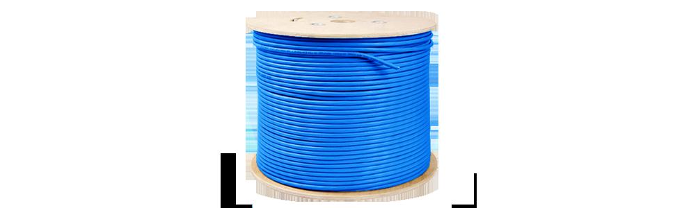 Cat6 Bulk Cables   Cat6 SF/UTP Solid PVC CMR Cable, Spool