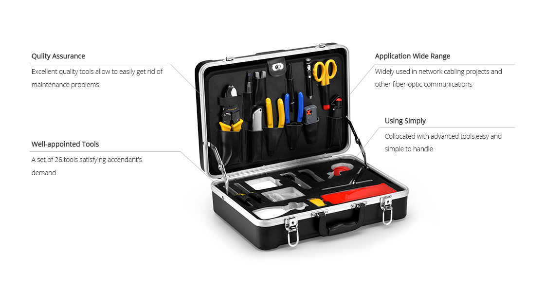 Fiber Optic Tool Kits Features of Fiber Optic Fusion Splicing Tool Kit
