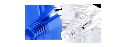 Manchons de Protection pour Connecteur RJ45  Les Couleurs Bleues et Transparentes sont Disponibles