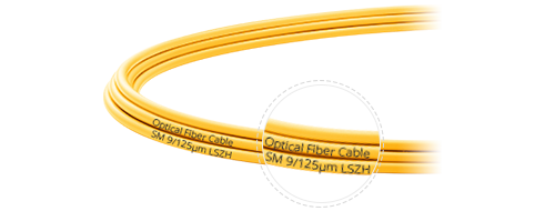 OS2 9/125 Single Mode Simplex Clear Cable Printing