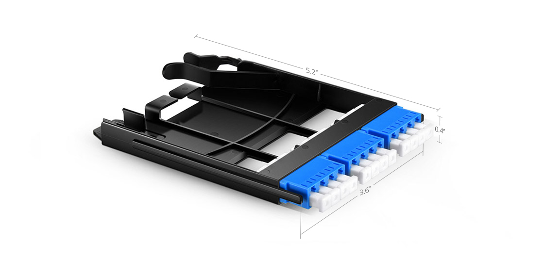 FHX LC SC MTP FAPs  Panel de adaptador de fibra construido para las demandas de densidad de la generación siguiente