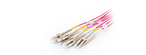 MTP®/MPO-LC Breakout Cables 0.2dB Low Insertion Loss LC Connector