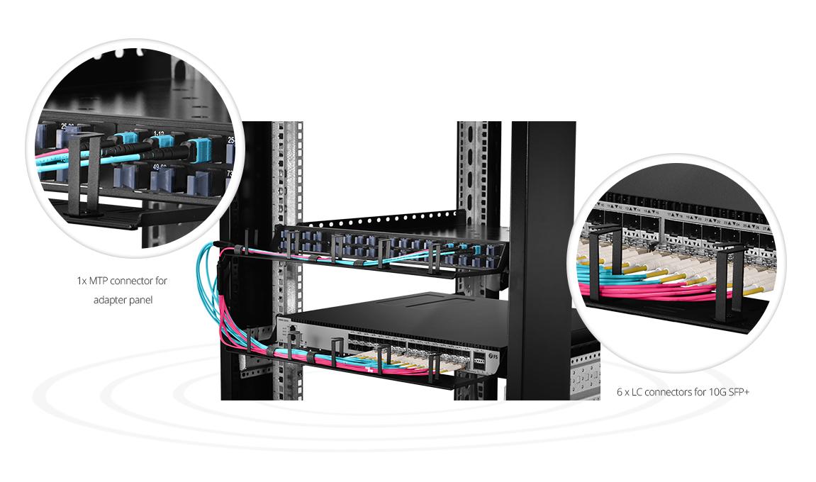 MTP®/MPO-LCファンアウトケーブル MTP®ファンアウトケーブルを高密度ファイバネットワーク用の最初の選択肢にさせる