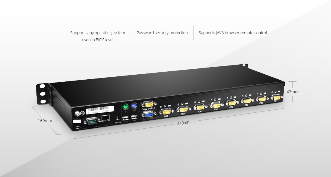 Rack Mount KVM Switches  High performance integrated management equipment