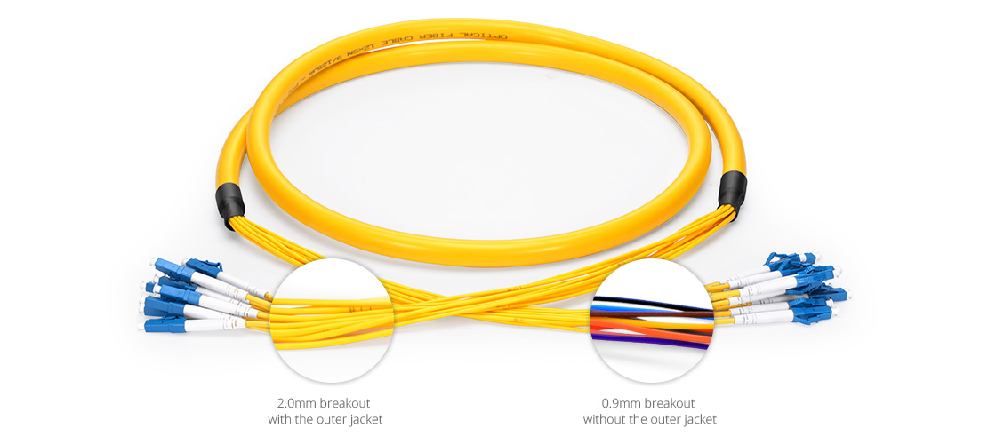 Int cables multifibra Cable breakout preterminado multifibras para interiores de alta calidad