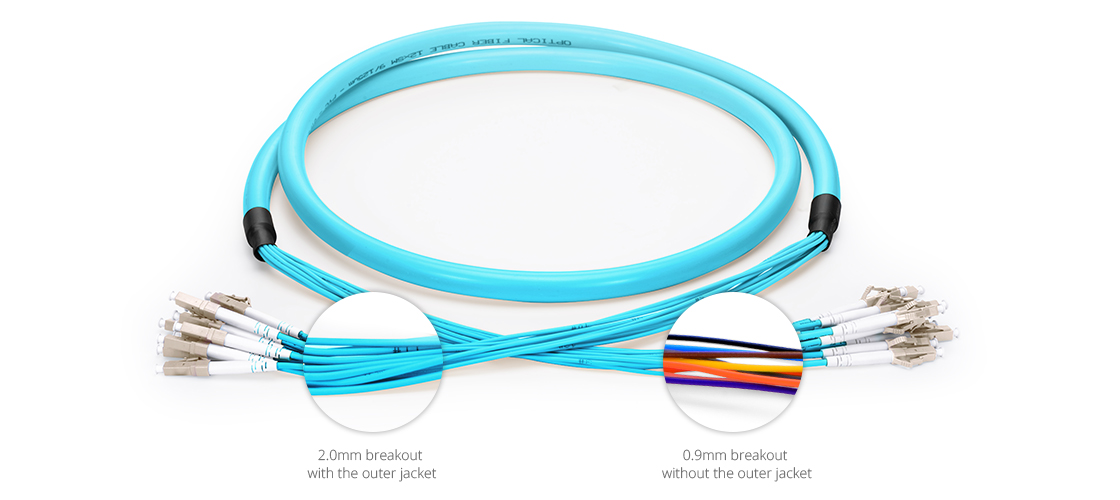 Indoor Multifiber Cables Premium Quality Indoor Multi-Fiber Pre-Terminated Breakout Cable
