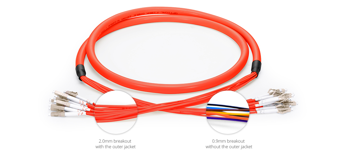 Indoor Multifiber Cables Premium Quality Indoor Multi-Fiber Pre-Terminated Breakout Cable