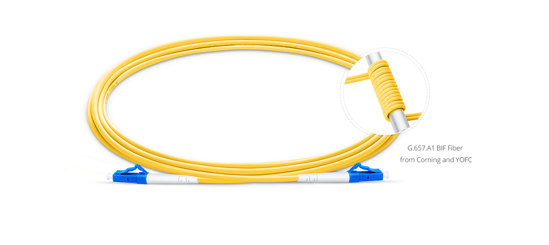 Customised HD LC+ Cables  Bend Insensitive Fiber Optic Cable