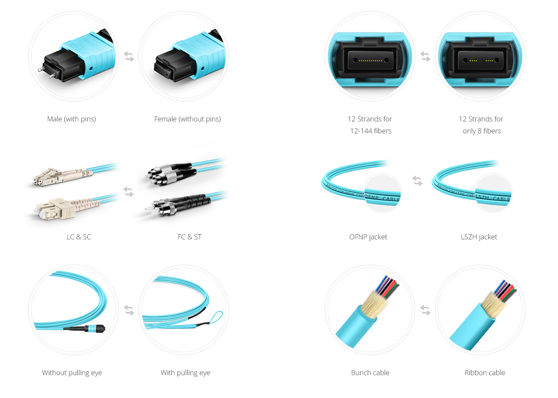 Customized MTP Fiber Cables  Custom Services to Satisfy All Your Needs