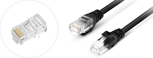 Cat6 Patchkabel  4. Vergoldete Steckverbinder Design
