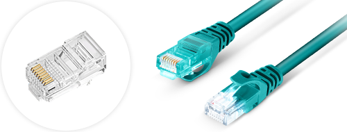Cat 6 Patchkabel  4. Vergoldetes Steckverbinder-Design
