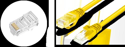 Cat5e Patchkabel  4. Vergoldete Steckverbinder Design
