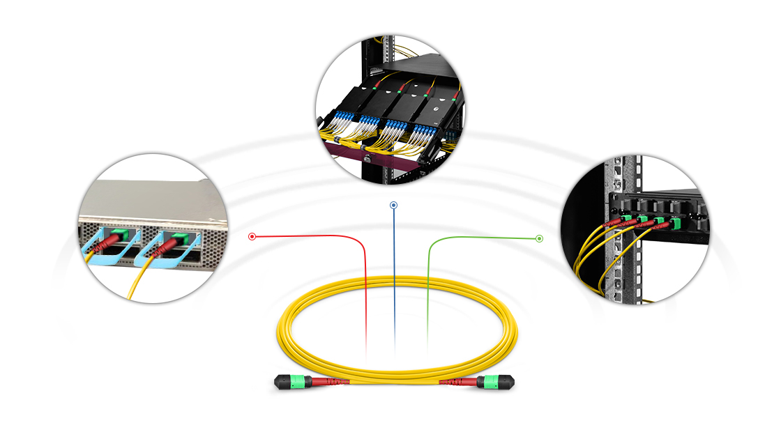 Customized MTP Fiber Cables  High Performance Multifiber Push On Solution