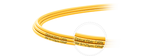 OS2 9/125 Single Mode Duplex Clear Cable Printing
