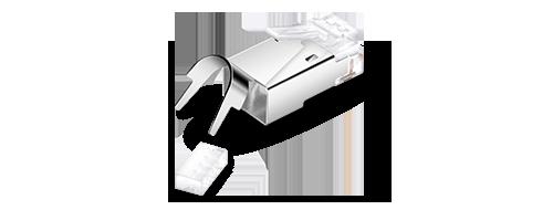 Коннекторы RJ-45(8P8C)  Экранированная Оболочка из Алюминиевого Сплава