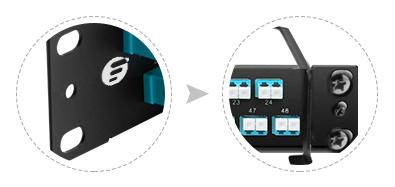 Paneles de adaptadores FHU 1U  Diseño innovador y gestión de cable
