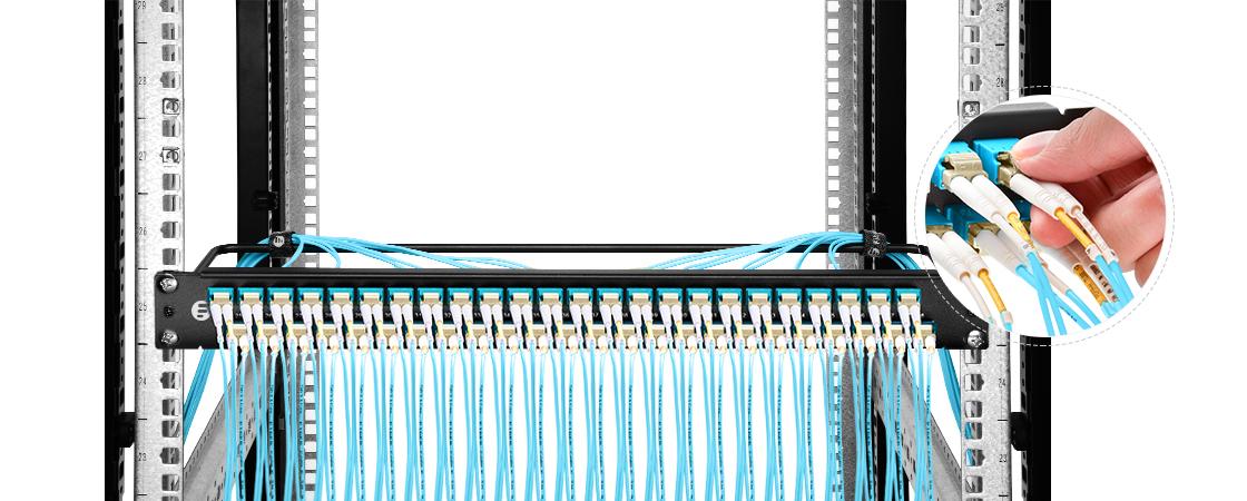 Paneles de adaptadores FHU 1U   Puertos escalonados únicos- ahorrando más espacio para un fácil Plug & Play