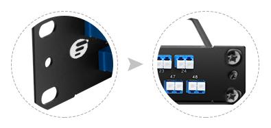 Paneles de conexión FHU 1U  Diseño innovador y gestión de cable