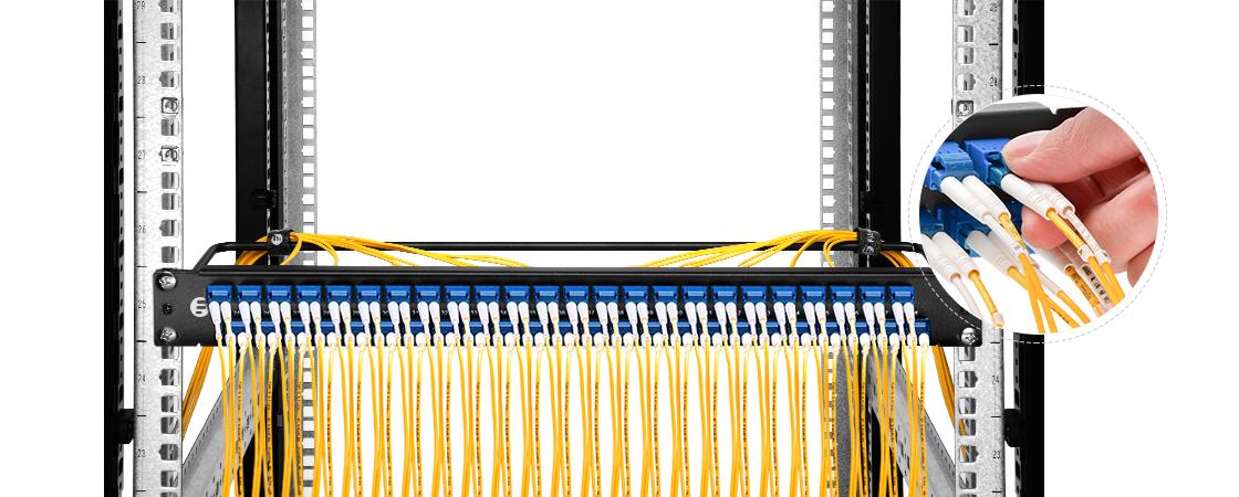 Paneles de conexión FHU 1U   Puertos escalonados únicos- ahorrando más espacio para un fácil Plug & Play