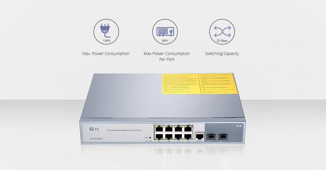 Switches 1G/10G Switch Gigabit Ethernet administrablede 8 puertos de rendimiento superior