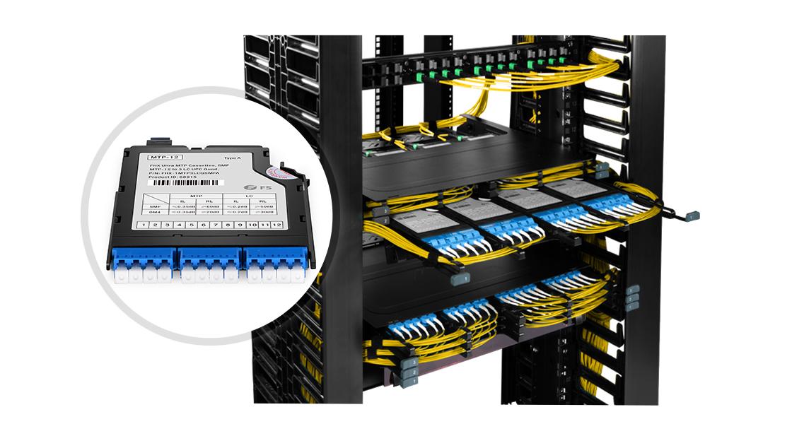 FHX MTP/MPO Cassettes  Maximum Utilization and Space-saving
