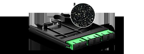 Panneaux d'Adaptateur LC SC MTP FHX  2. Le Grade d'Ignifuge - ABS UL94 V0