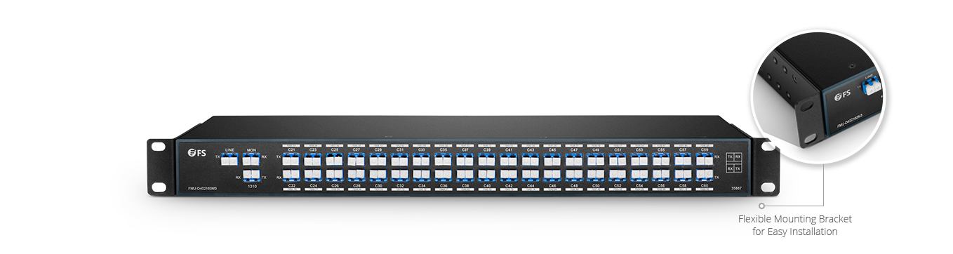 DWDM Mux Demux  Mux/Demux 40 Channels over Dual Fiber