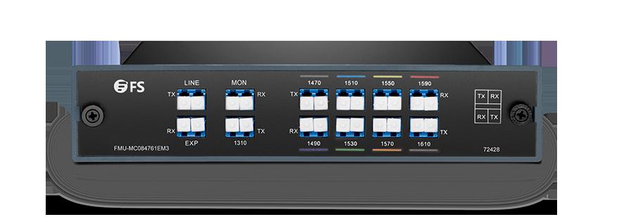 CWDM波長合分波モジュール  デュアルファイバ上のMux/Demux 8チャネル