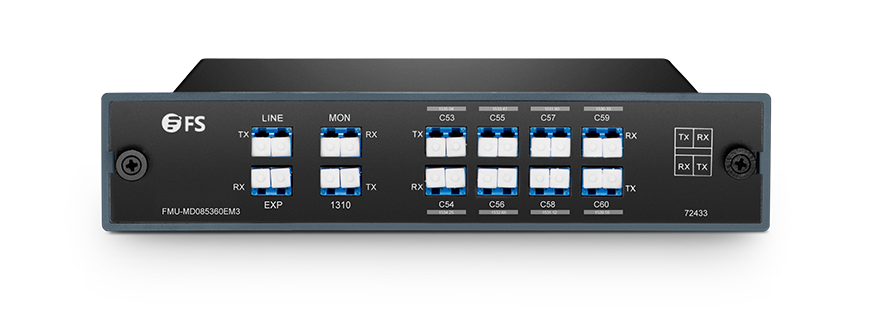 DWDM Mux Demux  Mux/Demux 8 Channels over Dual Fiber