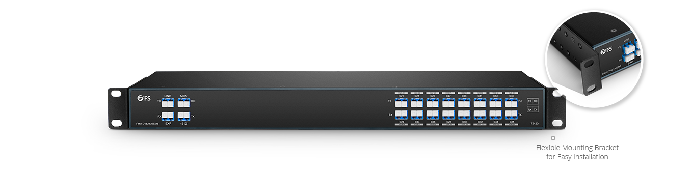 DWDM Mux Demux Mux/Demux 16 Channels over Dual Fiber