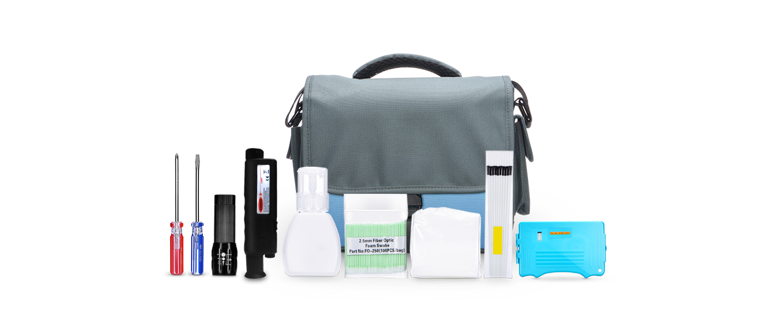 Kits de herramientas  Combinación profesional de kits de limpieza de fibra óptica