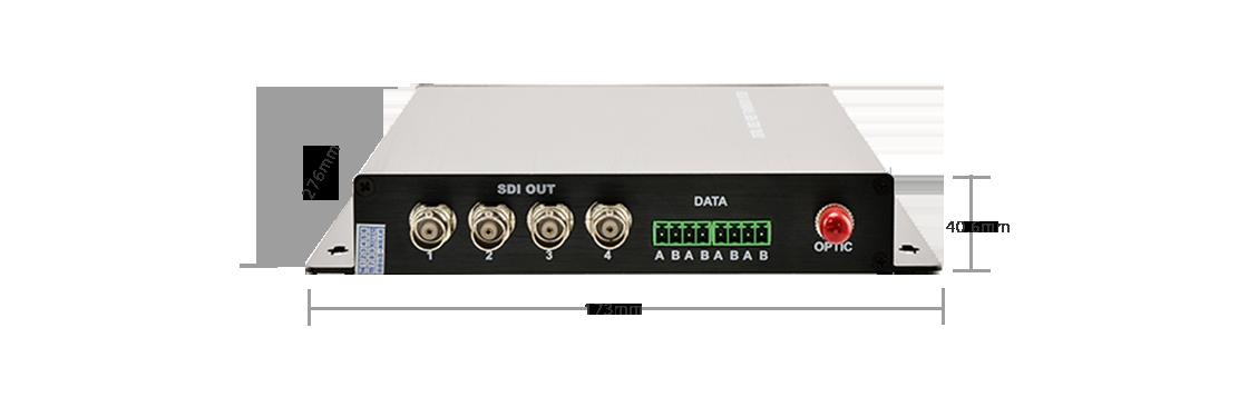 Extenders 4 Channel HD-SDI  Fibre Video Converter