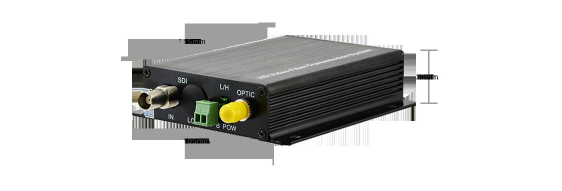 Conversores de vídeo SDI, CVI y TVI  Mini convertidor de video de fibra HD-SDI de 1 canal