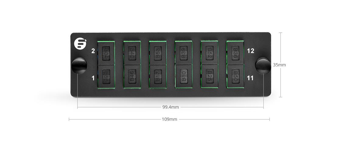 FHD LC SC MTP FAPs  Montaje de alta densidad - Panel de adaptador de fibra FHD