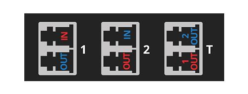Cassettes FHD TAP Relación de los puertos TAP